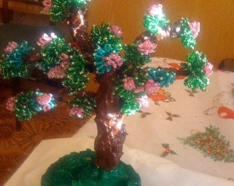 "Hand made.Wood Bead "" Bonsai"""