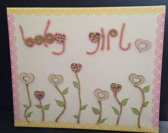 Baby girl canvas