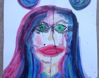 Self portrait green eyed doll