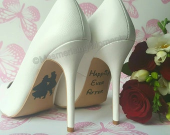 Disney Wedding Shoe Decal / Snow White / Happily Ever After / Love / Marriage