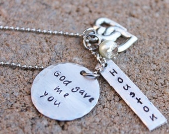 God gave me you Personalized Jewelry- Mama Customized Necklace- Mama Jewelry
