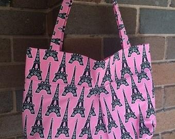 Pink Paris tote bag