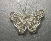 Sterling Silver Celtic Butterfly Chainmail Pendant