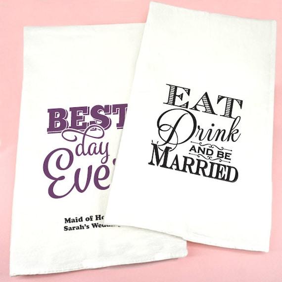 Wedding Gift Tea Towels : Wedding Favor Tea Towels, Personalized Wedding Tea Towels, Bridal Tea ...