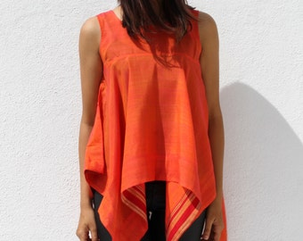 Handwoven square cut top