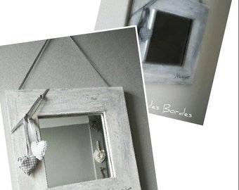 Small mirror grey heart