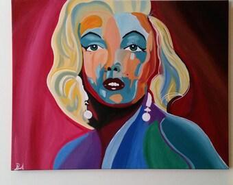 Marilyn Monroe Painting Spontanrealismus style