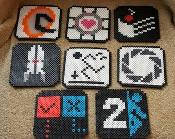 Portal/Portal 2 coaster set, 6 pieces, Companion Cube