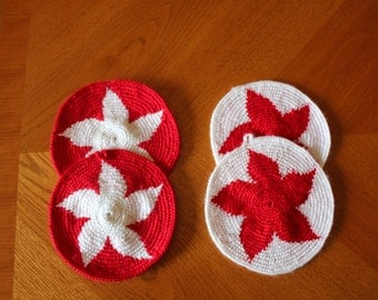 Decorative crochet rounds