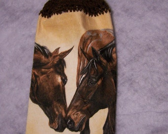 Hanging Kitchen Towel/Horse/western/new/hanging Towel/kitchen Towel/