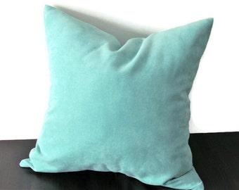 AquaTurqoise Pillow Cover, Velvet Pillow Cover, Velvet Throw Pillows, Decorative Pillow,  Couch Pillows, Target Pillows, Size 18x18 inches