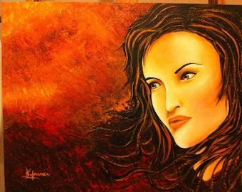 Acrylic paint - luminous Lady