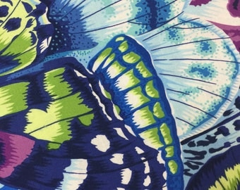 Natural Wonder Fabric - Wings Butterfly - Phillip Jacobs Snow Leopard Designs for FreeSpirit - CT 118722
