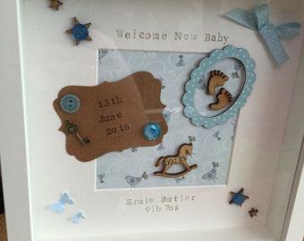 BEAUTIFUL New Baby / Christening Gift Handmade Personalised