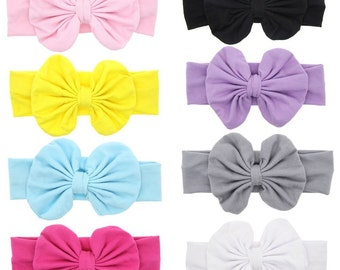 8 Baby Headbands With Bows