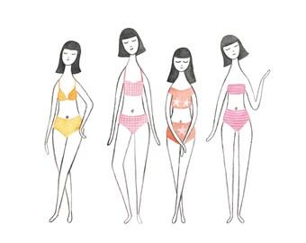 Bikini Girls - Art Print