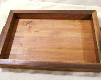 Walnut and Pine reclaimed wooden tray