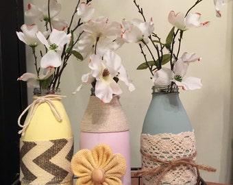 Milk Bottle Decoration