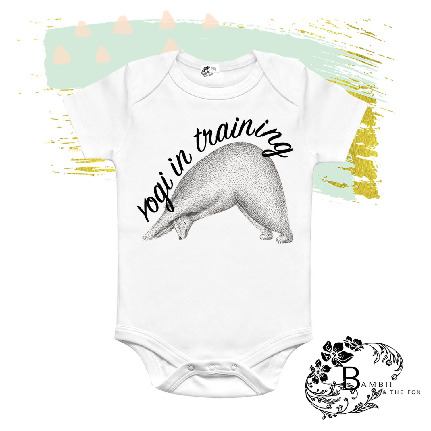 Baby Gifts Yoga : Yoga baby bodysuit yogi in training outfit workout