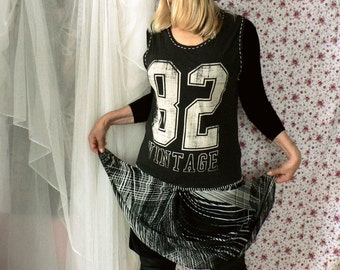 Vintage, recycling, black dress