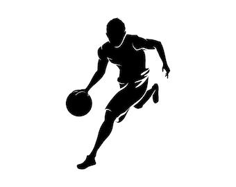 Silhouette Basketball Player - Vinyl Decal