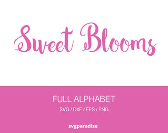 Girly Alphabet Svg,  Girl Font Alphabet, Svg, Eps, Dxf, Png use with Cricut & Silhouette