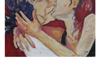 The kiss,oil on canvas, 80x60cm