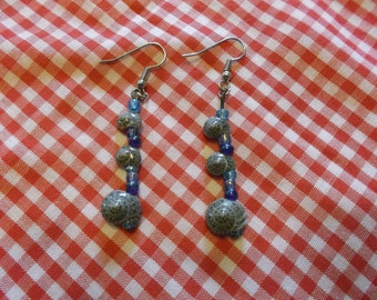 blue and snails earrings