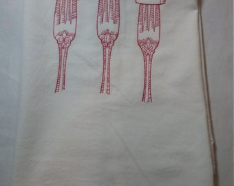 Embroidered Tasty Bites flour sack towel