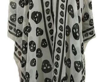 Gypsy Blouse-Skulls