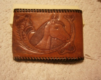 Leather Tooled Wallet