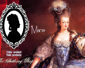 Body Lotion - Marie Antoinette, cake scented, Let them eat cake, 8 oz bottle, pink, cameo, goat's milk