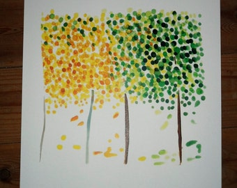 tree/Art print whith Canson paper