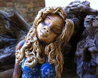 Suntanned Bathing Girl Sculpture