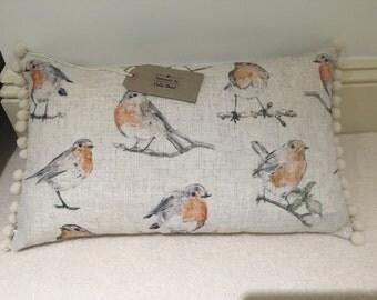 Beautiful Robin Cushion handmade in Somerset .