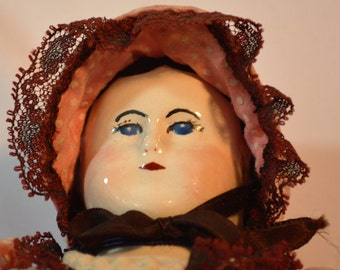 Victorian Antique Doll, Repro, Handmade, Porcelain Doll, Doll Clothing