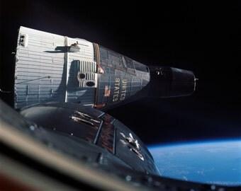 View of Gemini 6 Spacecraft as Seen From Gemini 7 - 5X7, 8X10 or 11X14 NASA Photo (EP-841)