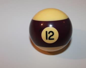 ON SALE! -20% OFF!!! Billiard Ball #12, Vintage Billiard Ball, Vintage Game, Pool ball, Decorating Supplies, Old Vintage Billiard Ball