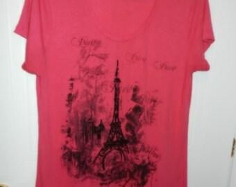 T-shirt Paris - fuchsia - XL color