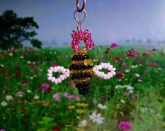 Busy Bee Key Chain