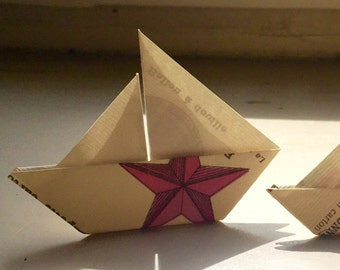 Origami Paper Boat Fleet (Small)