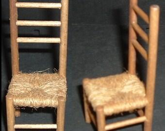 Miniature HANDMADE COLONIAL CHAIR
