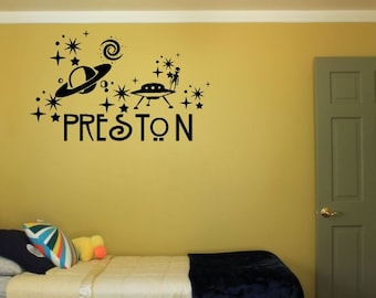 Outer Space Personalized Wall Decal