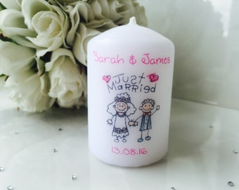 Personalised Wedding Favour Candles Set of 10