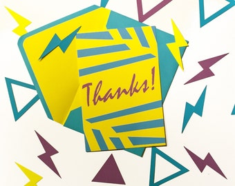 Awesome Radical Colorful Thank You Card
