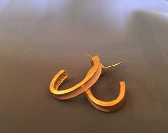 80's small hoop earrings