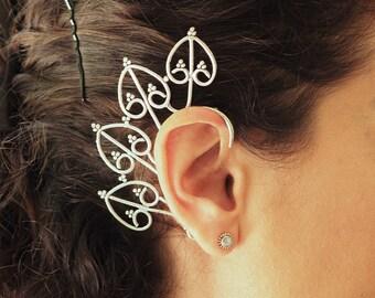 Ear Wrap // Silver Wrap Earring // Ear Climber // Wrap Around Earring // Ear Sweeps // Ear Jacket // Tribal Ear Cuff