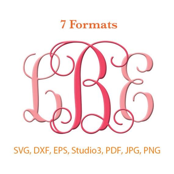 Interlocking Monogram Font SVG ( Studio 3 / dfx / eps ...