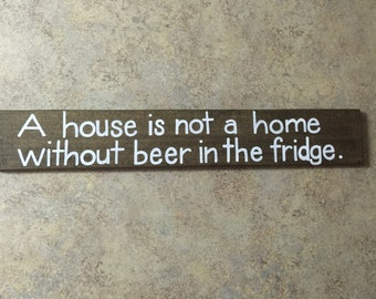 Rustic Wood Sign, Signs With Quotes, Wall Decor, Rustic Wall Art, Reclaimed Wood Sign, A House Is Not A Home, Wooden Sign, Wedding Gift
