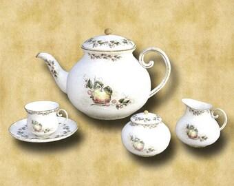 Tea Set 001 Graphics Download 300dpi 3594 x 2162
